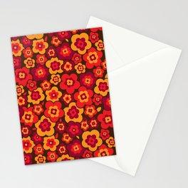 Retro Vintage Orange Poppies Stationery Cards