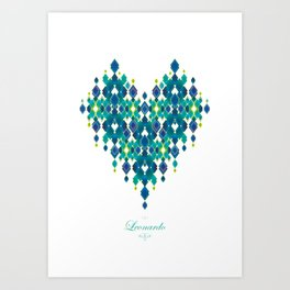 Leonardo Love Art Print