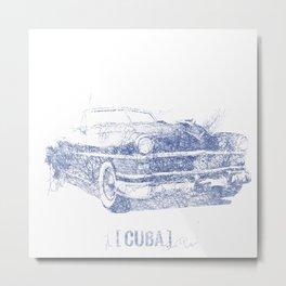 Hemingway's 1955 Chrysler (Biro Sketch)  Metal Print