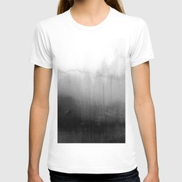 Modern Black and White Watercolor Gradient T-shirt