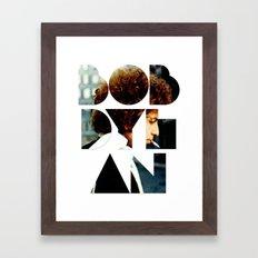Bob Dylan Font Colour Framed Art Print