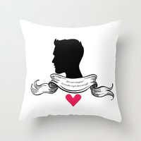 derek hale Throw Pillows featuring Derek Hale by smartypants