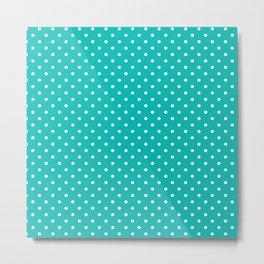 Dots (White/Tiffany Blue) Metal Print