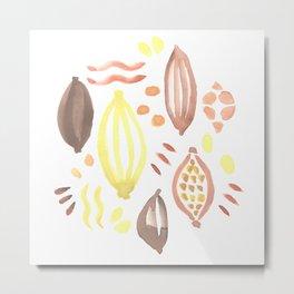 Abstract Watercolor Pattern Metal Print