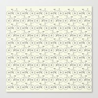 bicycles Canvas Prints featuring Bicycles by superdumb