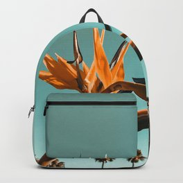 Birds of Paradise Print {1 of 3} | Palm Trees Ocean Summer Beach Teal Photography Art Backpack