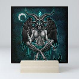Baphomet (Teal) Mini Art Print