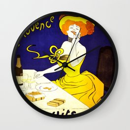 Vintage Amandines De Provence Biscuits Poster by Leonetto Cappiello Artwork for Prints Posters Tshir Wall Clock