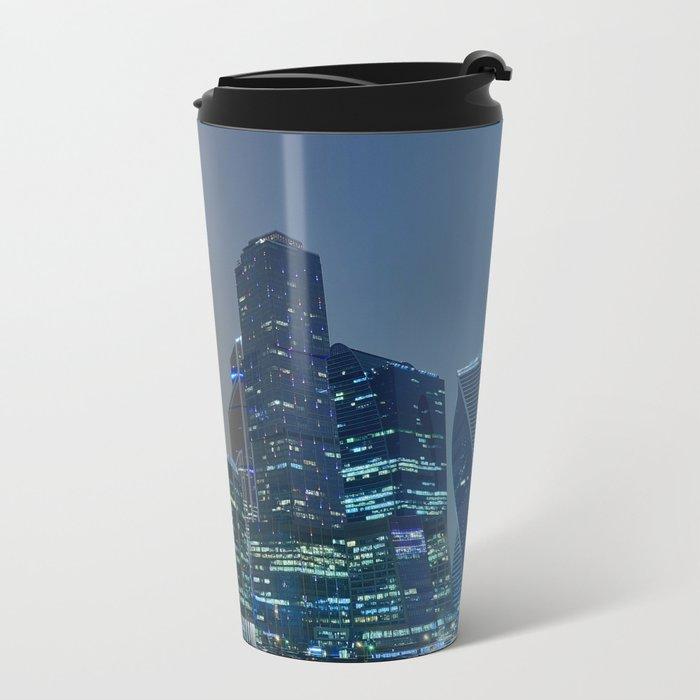 Moscow's Skyscrapers Metal Travel Mug