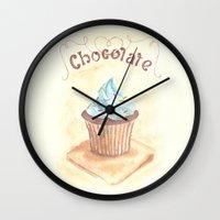 chocolate Wall Clocks featuring Chocolate by YeesArts