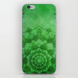 Emerald Green Lotus Mandala iPhone Skin