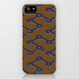 Orange Abstract Keyhole Geo iPhone Case