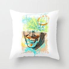 Smiley Eye Throw Pillow