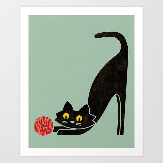 Fitz - the curious cat Art Print