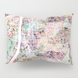 Baton Rouge map Pillow Sham