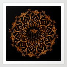 Mandala Project 240 | Fall Pumpkin Art Print