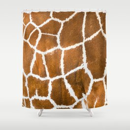 Giraffe skin close up illustration Shower Curtain