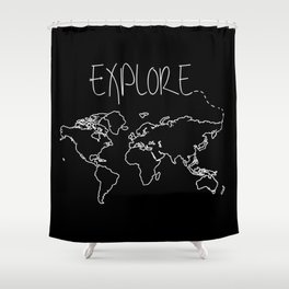 Australia shower curtains society6 explore world map shower curtain gumiabroncs Gallery