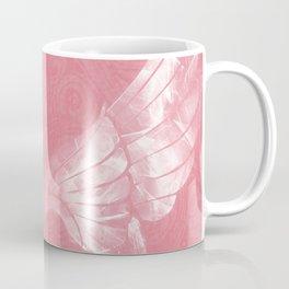 Pink/White Ethereal Angel Wing Digital Mural Art Coffee Mug