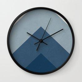Chewron Navy Wall Clock