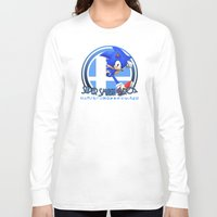 super smash bros Long Sleeve T-shirts featuring Sonic - Super Smash Bros. by Donkey Inferno
