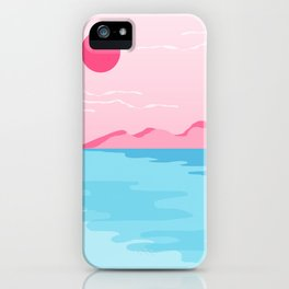 Sweetness - memphis landscape west coast socal vacation 80s style retro 1980's iPhone Case