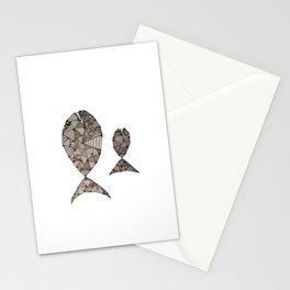 big fish small fish Stationery Cards