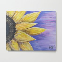 Sunflower Acrylic Metal Print