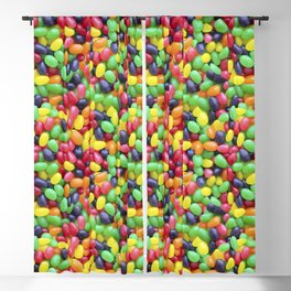 Jelly Bean Candy Photo Pattern Blackout Curtain