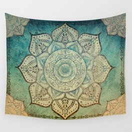 Faded Bohemian Mandala Wall Tapestry