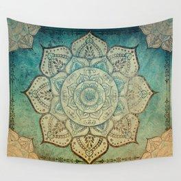 Faded Bohemian Mandala Wall Tapestry