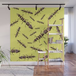 Ants erase and rewind Wall Mural
