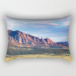 Boulder Colorado Flatirons Rectangular Pillow