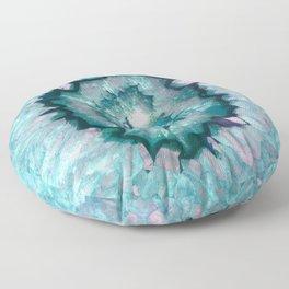 Teal Agate Floor Pillow