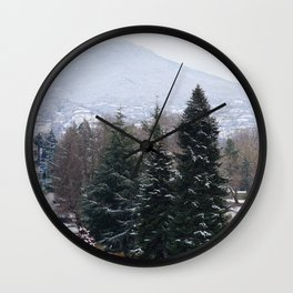Ohrid lakeshore from above Wall Clock