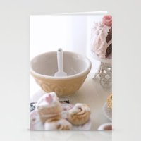 baking Stationery Cards featuring Baking Serenity  by Miniature Love