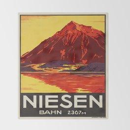 Vintage poster - Switzerland Throw Blanket