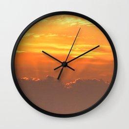 Sun rays over Happisburgh Wall Clock
