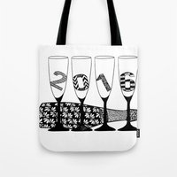 new year Tote Bags featuring New Year by Sophie H.