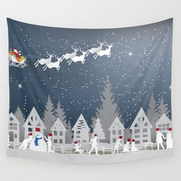 Merry christmas and happy new year! Wall Tapestry