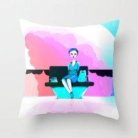 shopping Throw Pillows featuring Shopping by IOSQ