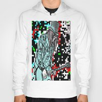 heavy metal Hoodies featuring Abstract Heavy Metal Rocks by Saundra Myles