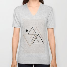 Triangle Line II Unisex V-Neck