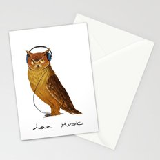 Love Music owl  Stationery Cards