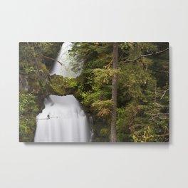 Curly Falls, Washington Metal Print