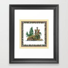 MY ISLAND RETREAT Framed Art Print