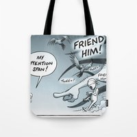 fight Tote Bags featuring Fight! by From Nothing