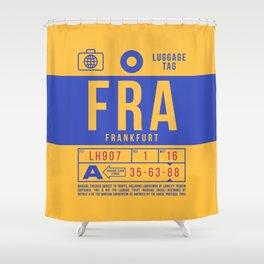Luggage Tag B - FRA Frankfurt Germany Shower Curtain