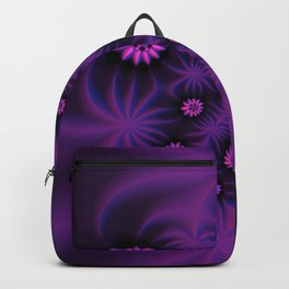 Berry Colored Fractal Flowers Backpack