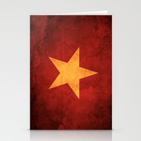 vietnam Stationery Cards featuring Vietnam Flag by anhnt32
